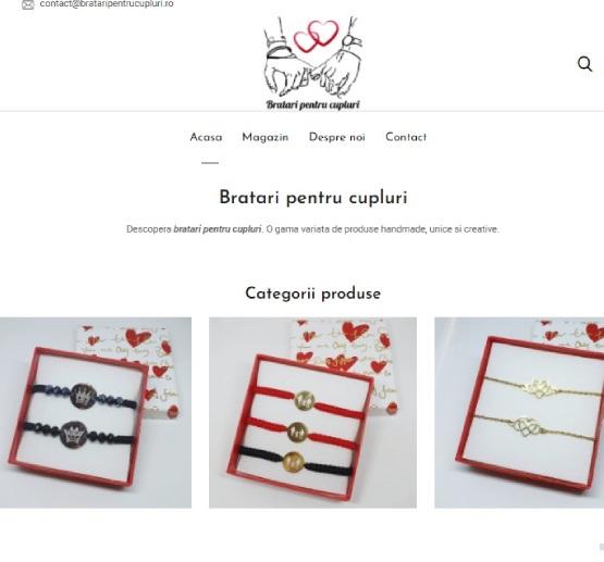 Creare site Bratari pentru cupluri
