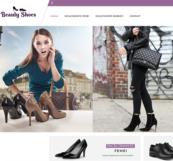 Creare site Beauty Shoes