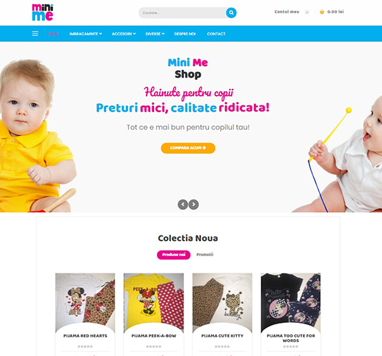 Creare site Mini Me Shop