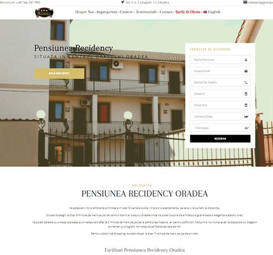 Creare site Pensiunea Recidency Oradea