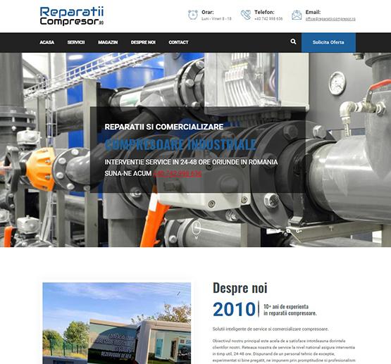 Creare site Reparatii Compresoare Industriale